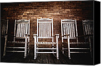 Signed Canvas Prints - Rocking Chairs Canvas Print by Skip Nall