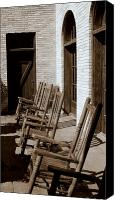 Rocking Chairs Photo Canvas Prints - Rocking to Relax Canvas Print by Karen Musick