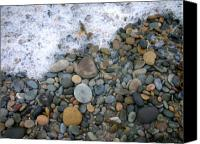 Seafoam Canvas Prints - Rocks and Pebbles Canvas Print by Stephanie Troxell