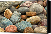 Creek Bed Canvas Prints - Rocks Canvas Print by Lauri Novak