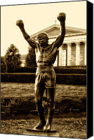 Art Museum Canvas Prints - Rocky - Heart of a Champion  Canvas Print by Bill Cannon
