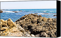 Cambria Photo Canvas Prints - Rocky Coast Canvas Print by Bernard  Barcos