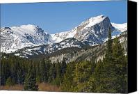 Colorado Mountains Canvas Prints - Rocky Mountain National Park Vista showing Hallet Peak on right Canvas Print by Brendan Reals