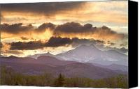 Colorado Artwork Canvas Prints - Rocky Mountain Springtime Sunset Canvas Print by James Bo Insogna