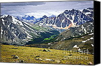 Mountain View Photo Canvas Prints - Rocky Mountains in Jasper National Park Canvas Print by Elena Elisseeva
