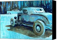 Custom Ford Painting Canvas Prints - Rod and Kustom Canvas Print by Bernie Ramirez