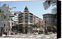 Drive Canvas Prints - Rodeo Drive Los Angeles Canvas Print by David Gardener