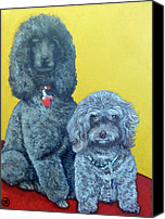 Roger Canvas Prints - Roger and Bella Canvas Print by Tom Roderick