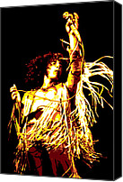 Roger Canvas Prints - Roger Daltrey Canvas Print by Dean Caminiti
