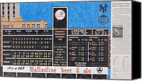 Baseball Drawings Canvas Prints - Roger Maris Hits Number 61 in 1961 Canvas Print by Marc Yench