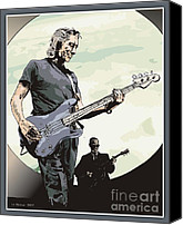 Roger Waters Canvas Prints - Roger Waters - Concert in China Canvas Print by Liz Molnar