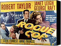 Francis Canvas Prints - Rogue Cop, George Raft, Anne Francis Canvas Print by Everett