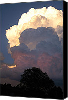 Thunderclouds Canvas Prints - Roiling Thunderheads Canvas Print by Shawn Shea