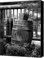 Rain Barrel Photo Canvas Prints - Roll Out the Barrel Canvas Print by Shelley Blair