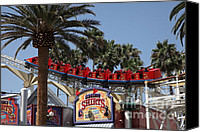 Disneyland Canvas Prints - Roller Coaster - 5D17628 Canvas Print by Wingsdomain Art and Photography