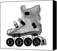 Skates Canvas Prints - Rollerblade Boot Canvas Print by Ted Kinsman