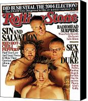 Magazine Cover Canvas Prints - Rolling Stone Cover - Volume #1002 - 6/15/2006 - Red Hot Chili Peppers Canvas Print by Matthew Rolston