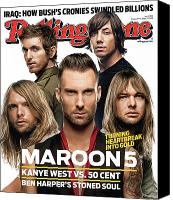 Magazine Cover Canvas Prints - Rolling Stone Cover - Volume #1034 - 9/6/2007 - Maroon 5 Canvas Print by Matthew Rolston