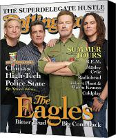 Eagles Canvas Prints - Rolling Stone Cover - Volume #1053 - 5/29/2008 - The Eagles Canvas Print by Max Vadukul