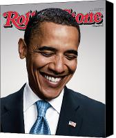 Obama Photo Canvas Prints - Rolling Stone Cover - Volume #1057 - 7/10/2008 - Barack Obama   Canvas Print by Peter Yang