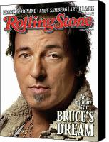 Springsteen Canvas Prints - Rolling Stone Cover - Volume #1071 - 2/5/2009 - Bruce Springsteen Canvas Print by Albert Watson