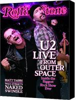 Bono Canvas Prints - Rolling Stone Cover - Volume #1089 - 10/15/2009 - Bono and the Edge Canvas Print by Sam Jones