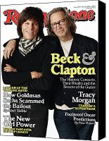 Clapton Canvas Prints - Rolling Stone Cover - Volume #1099 - 3/4/2010 - Jeff Beck and Eric Clapton Canvas Print by Jones Sam