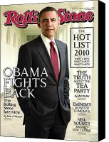 Magazine Cover Canvas Prints - Rolling Stone Cover - Volume #1115 - 10/14/2010 - Barack Obama Canvas Print by Seliger Mark