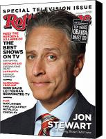 Jon Stewart Canvas Prints - Rolling Stone Cover - Volume #1140 - 9/29/2011 - Jon Stewart Canvas Print by Albert Watson
