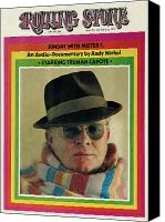 Capote Canvas Prints - Rolling Stone Cover - Volume #132 - 4/12/1973 - Truman Capote Canvas Print by Henry Diltz