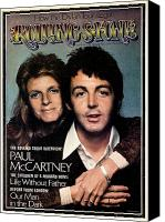 Linda Canvas Prints - Rolling Stone Cover - Volume #153 - 1/31/1974 - Paul and Linda McCartney Canvas Print by Francesco Scavullo