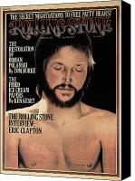 Clapton Canvas Prints - Rolling Stone Cover - Volume #165 - 7/18/1974 - Eric Clapton Canvas Print by Philip Hays