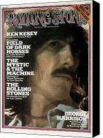 George Harrison Canvas Prints - Rolling Stone Cover - Volume #176 - 12/19/1974 - George Harrison Canvas Print by Mark Focus