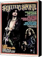 Plant Canvas Prints - Rolling Stone Cover - Volume #182 - 3/13/1975 - Jimmy Page and Robert Plant Canvas Print by Neal Preston