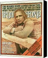 Magazine Cover Canvas Prints - Rolling Stone Cover - Volume #213 - 5/20/1976 - Marlon Brando Canvas Print by Mary Ellen Mark