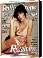 Linda Canvas Prints - Rolling Stone Cover - Volume #276 - 10/19/1978 - Linda Ronstadt Canvas Print by Francesco Scavullo