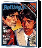 Magazine Cover Canvas Prints - Rolling Stone Cover - Volume #324 - 8/21/1980 - Mick Jagger and Keith Richards Canvas Print by Julian Allen