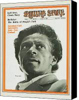 Chuck Berry Canvas Prints - Rolling Stone Cover - Volume #35 - 6/14/1969 - Chuck Berry Canvas Print by Baron Wolman