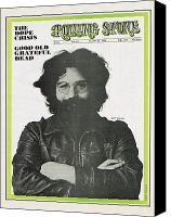 Magazine Cover Canvas Prints - Rolling Stone Cover - Volume #40 - 8/23/1969 - Jerry Garcia Canvas Print by Baron Wolman