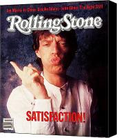 Magazine Cover Canvas Prints - Rolling Stone Cover - Volume #409 - 11/24/1983 - Mick Jagger Canvas Print by William Coupon