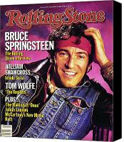 Springsteen Canvas Prints - Rolling Stone Cover - Volume #436 - 12/6/1984 - Bruce Springsteen Canvas Print by Aaron Rapoport