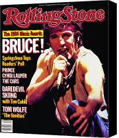 Springsteen Canvas Prints - Rolling Stone Cover - Volume #442 - 2/28/1985 - Bruce Springsteen Canvas Print by Neal Preston