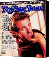 Springsteen Canvas Prints - Rolling Stone Cover - Volume #468 - 2/27/1986 - Bruce Springsteen Canvas Print by Aaron Rapoport