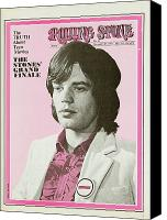 Magazine Cover Canvas Prints - Rolling Stone Cover - Volume #49 - 12/27/1969 - Mick Jagger Canvas Print by Baron Wolman