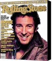 Springsteen Canvas Prints - Rolling Stone Cover - Volume #494 - 2/26/1987 - Bruce Springsteen Canvas Print by Albert Watson
