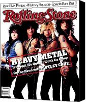 Cover Canvas Prints - Rolling Stone Cover - Volume #506 - 8/13/1987 - Motley Crue Canvas Print by E.J. Camp