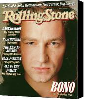 Bono Canvas Prints - Rolling Stone Cover - Volume #510 - 10/8/1987 - Bono Canvas Print by Matthew Rolston