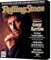 George Harrison Canvas Prints - Rolling Stone Cover - Volume #511 - 10/22/1987 - George Harrison Canvas Print by William Coupon