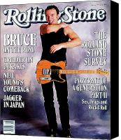 Springsteen Canvas Prints - Rolling Stone Cover - Volume #525 - 5/5/1988 - Bruce Springsteen Canvas Print by Neal Preston