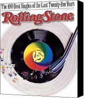 Magazine Cover Canvas Prints - Rolling Stone Cover - Volume #534 - 9/8/1988 - 100 Greatest Singles Canvas Print by Steve Pietzsch